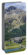 Panoramic View Over Mountain Portable Battery Charger