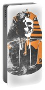 Pharaoh Stencil  Portable Battery Charger by Pixel  Chimp