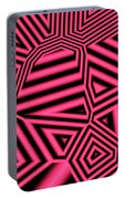 Pink And Black Abstract Portable Battery Charger