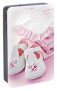 Pink Baby Clothes For Infant Girl Portable Battery Charger