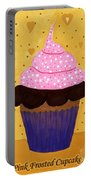 Pink Frosted Cupcake Portable Battery Charger