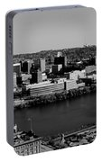 Pittsburgh In Black And White Portable Battery Charger