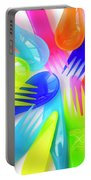 Plastic Cutlery Portable Battery Charger by Carlos Caetano