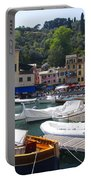 Portofino In The Italian Riviera In Liguria Italy Portable Battery Charger by David Smith