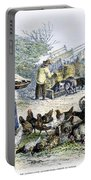 Poultry Yard, 1847 Portable Battery Charger