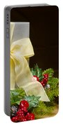 Present Decorated With Christmas Decoration Portable Battery Charger