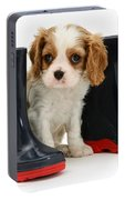 Puppy With Rain Boots Portable Battery Charger