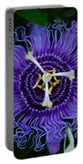 Purple Flower 1 Portable Battery Charger