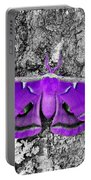 Purple Polyphemus Portable Battery Charger
