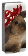 Rabbit Wearing A Hat Portable Battery Charger