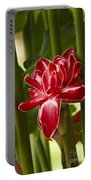 Red Ginger Lily Portable Battery Charger