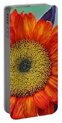 Red Sunflower  Portable Battery Charger