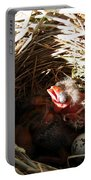 Red-winged Blackbird Babies And Egg Portable Battery Charger