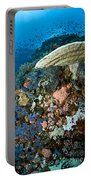 Reef Scene With Corals And Fish Portable Battery Charger