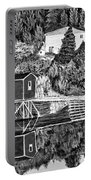 Reflections B W Portable Battery Charger by Barbara Griffin