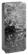 Reflections On The North Fork River In Black And White Portable Battery Charger