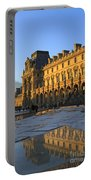 Richelieu Wing Of The Louvre Museum In Paris Portable Battery Charger