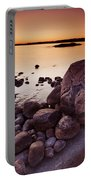 Rocky Shore At Twilight Portable Battery Charger