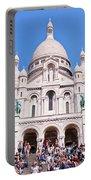 Sacre Coeur Basilica Paris France Portable Battery Charger