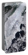 Satellite View Of Kamchatka Peninsula Portable Battery Charger