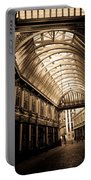 Sepia Toned Image Of Leadenhall Market London Portable Battery Charger