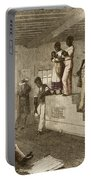 Slave Auction, 1861 Portable Battery Charger by Photo Researchers