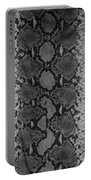 Snake Skin In Black And White Portable Battery Charger