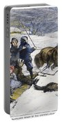 Snowstorm In The Country Portable Battery Charger