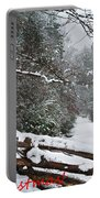 Snowy Fence Portable Battery Charger