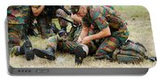 Soldiers Of A Belgian Infantry Unit Portable Battery Charger