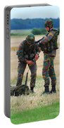 Soldiers Of The Belgian Army Portable Battery Charger
