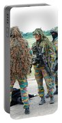 Soldiers Of The Special Forces Group Portable Battery Charger by Luc De Jaeger