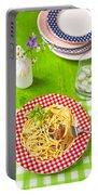 Spaghetti Al Pesto Portable Battery Charger