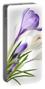 Spring Crocus Flowers Portable Battery Charger