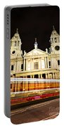 St. Paul's Cathedral In London At Night Portable Battery Charger