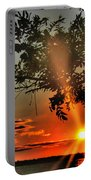 Summers Breeze Sunsets Through Tress Portable Battery Charger