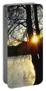 Sunlight Between The Trees Portable Battery Charger
