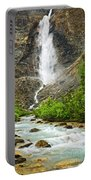 Takakkaw Falls Waterfall In Yoho National Park Canada Portable Battery Charger