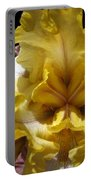Tall Bearded Iris Named Butterfingers Portable Battery Charger