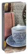 Tea Time Portable Battery Charger by Jane Linders