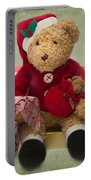 Teddy At Christmas Portable Battery Charger