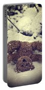 Teddy In Snow Portable Battery Charger