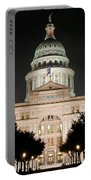 Texas Capitol Building At Night - Vert Portable Battery Charger