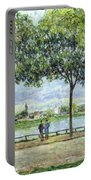 The Avenue Of Chestnut Trees Portable Battery Charger by Alfred Sisley