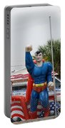 The Man Of Steel On I 95 Portable Battery Charger