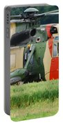 The Sea King Helicopter Of The Belgian Portable Battery Charger by Luc De Jaeger