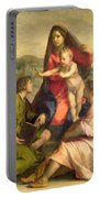 The Virgin And Child With A Saint And An Angel Portable Battery Charger by Andrea del Sarto