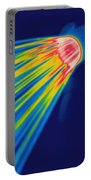 Thermogram Of A Shower Head Portable Battery Charger by Ted Kinsman