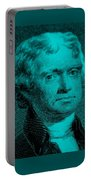 Thomas Jefferson In Turquois Portable Battery Charger