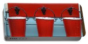 Three Red Buckets Portable Battery Charger